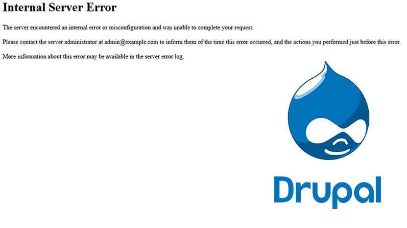 Drupal 7 Ошибка 500 internal server error