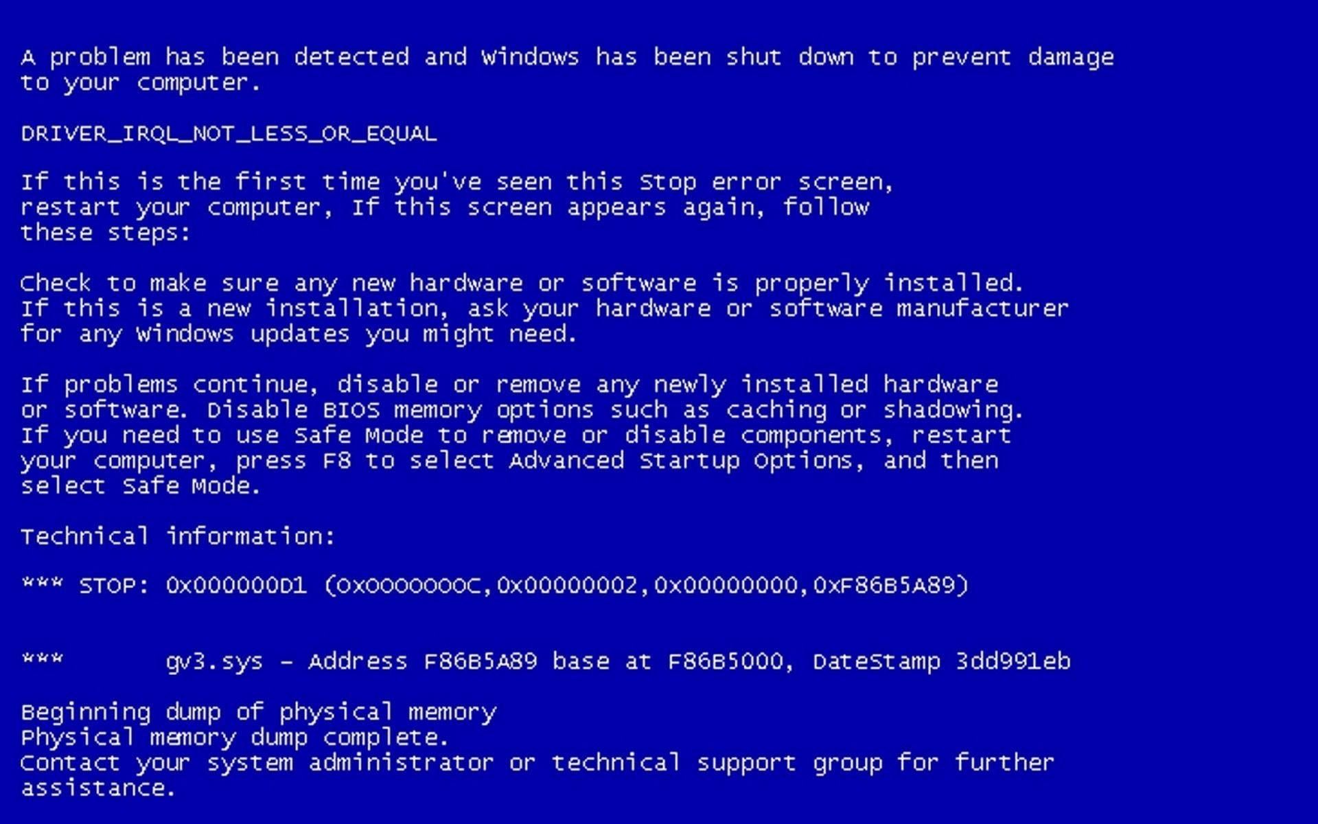 Ошибка обновление Windows 7