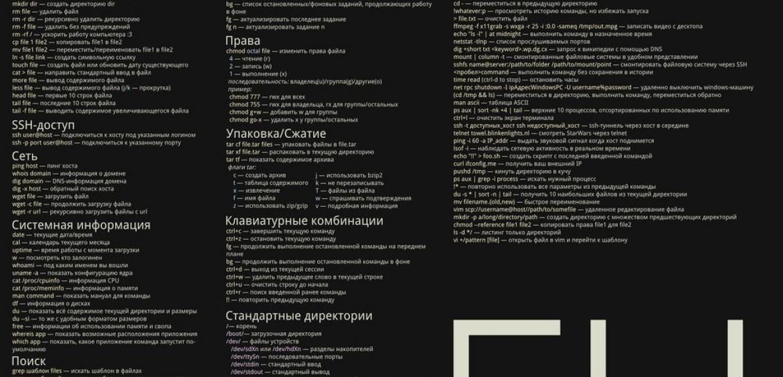 Полезные команды Linux